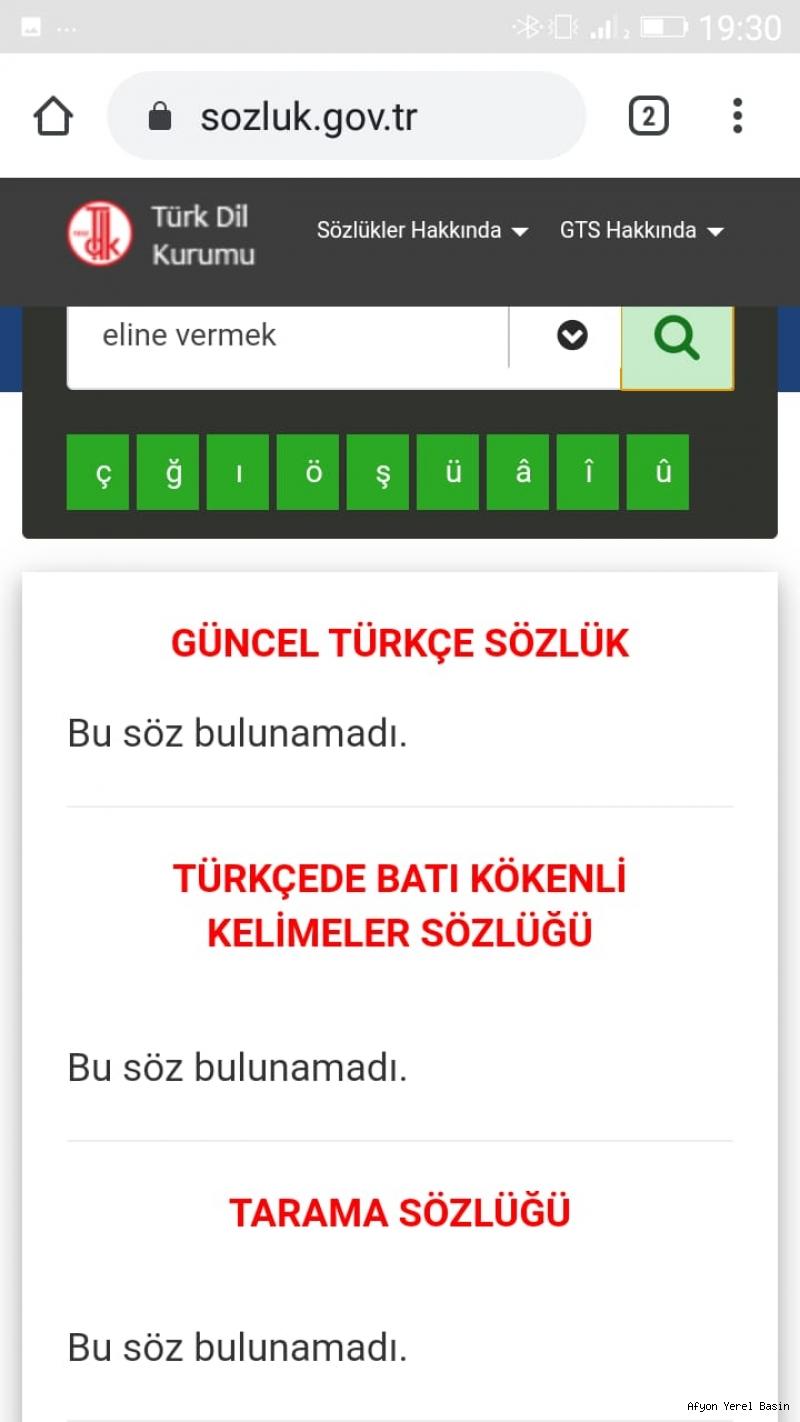 mesut birler turk dil kurumunda eline
