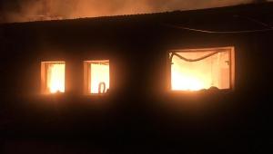 Dikici Köyünde Bir Evde Yangın Çıktı
