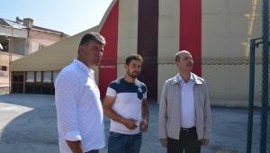 Başkan Bozkurt Stadyumda Çalışmaları İnceledi