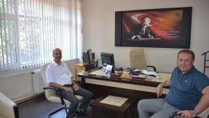 Başkan Bozkurt'tan Mal Müdürü Ali Erçelik'e Hayırlı Olsun Ziyareti