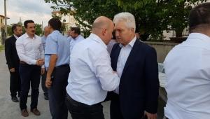 BAŞKAN SEZEN, BAKAN YARDIMCISI KOCA'NIN CENAZE TÖRENİNE KATILDI