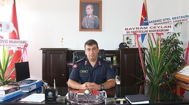 Dinar'da Yüzbaşı Necip Kacar Yeni Görevine başladı