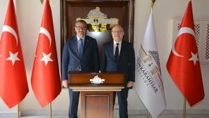 Giresun Valisi , Vali Mustafa Tutulmaz'ı Ziyaret Etti