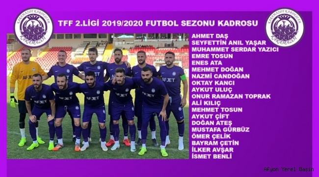İŞTE, AFJET AFYONSPOR'UN 19 KİŞİLİK KADROSU!..