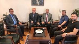MHP il başkanı Kocacan'dan Emliyet Müdürü Yıldız'a ziyaret,,