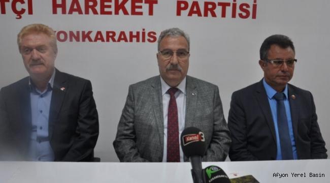 """MHP iL BAŞKANI KOCACAN """"Okulun inşaatı neden hala bitirilemedi"""""""