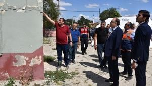 Valisi Mustafa Tutulmaz, Deprem Hasarlarını İnceledi