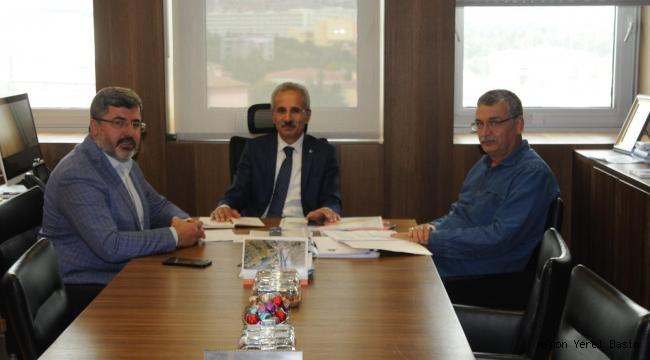 Vekil ÖZKAYA'dan Karayolları Genel Müdürü Abdulkadir Uraloğlu'na nezaket ziyareti