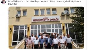 VEKİL ÖZKAYA DİNAR'DA İSTİŞARELERDE BULUNDU..