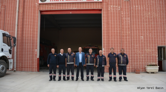 Başkan Bozkurt İtfaiye Teşkilatını Ziyaret etti