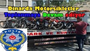 Dinar'da Motosikletler Toplanmaya Devam Ediyor