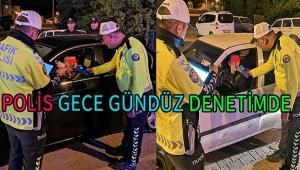 Dinar'da Polis Ekipleri Alkol Uygulaması Yaptı