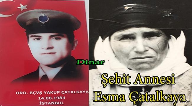 Dinar'da Şehit Annesi Yaşamını Yitirdi