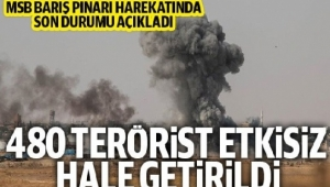 Barış Pınarı Harekatında Öldürülen Terörist Sayısı 480 oldu...