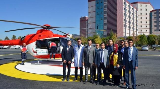 Devlet Hastanemize yapılan helikopter pisti faaliyete başladı