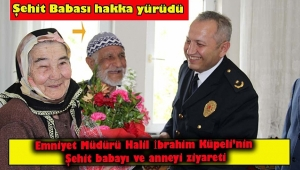 Dinar'da Şehit Polis Şükrü Çetinel'in Babası Bekir Çetinel Hakka Yürüdü