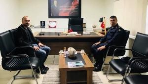 J. Yüzbaşı Necip Kacar, Başkan Sabri Can Bekle'yi ziyaret etti