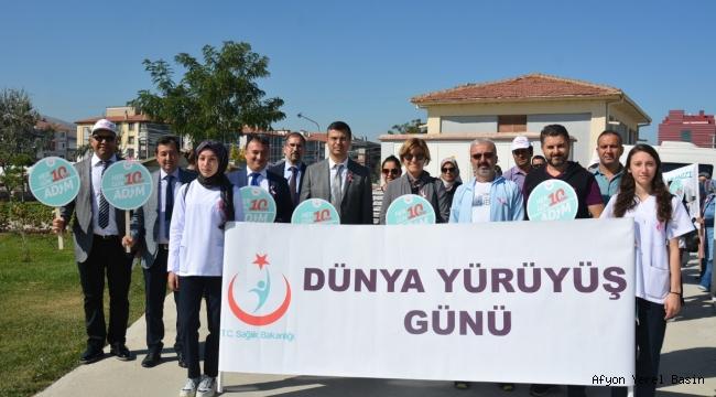 Sağlık İl Müdürlüğünden 3 Ekim Dünya Yürüyüş Günü etkinliği..