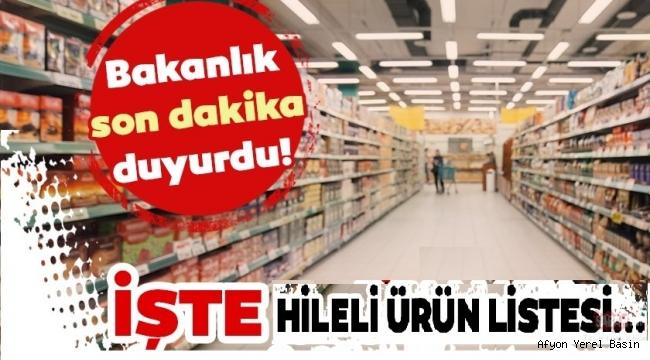 TÜRKİYE VE AFYONKARAHİSAR'DAKİ FİRMALARI BAKANLIK AÇIKLADI..