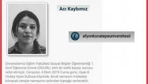 ÜNİVERSİTE ÖĞRENCİSİ EMİNE ERDURU'DAN KÖTÜ HABER GELDİ..!!