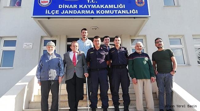 Yüzbaşı Kacar ve Teğmen Kalli'ye Hayırlı Olsun Ziyareti