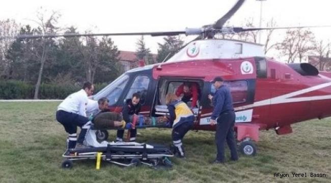 Ambulans Helikopter Emirdağ'da!