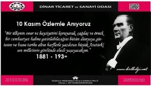 Başkan Bağırkan' dan 10 Kasım Anma Mesajı