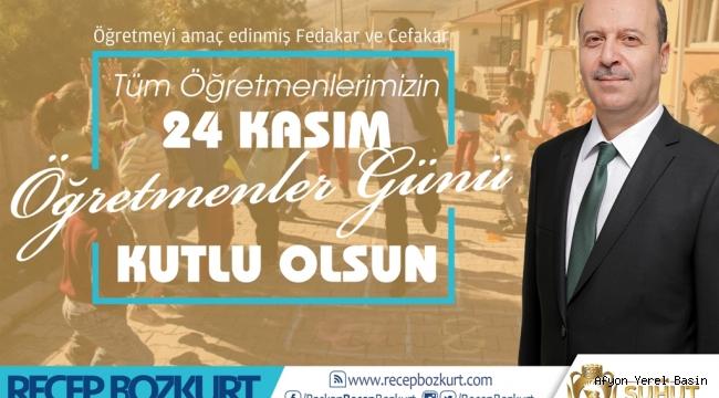 Başkan Bozkurt'un 24 Kasım Öğretmenler Günü Mesajı