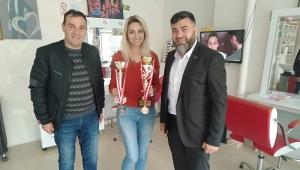 ÇİĞDEM DAŞDELEN'E TEBRİK ZİYARETİ..