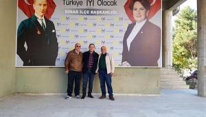 İYİ Parti Dinar İlçe Başkanlığı Levhasını Yeniledi