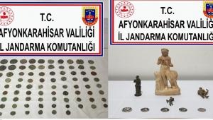 JANDARMA'DAN İHSANİYE BÖLGESİNDE TARİHİ ESER OPERASYONU..!!