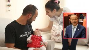 Milletvekili Mehmet Taytak Elif bebeği yanlız bırakmadı..