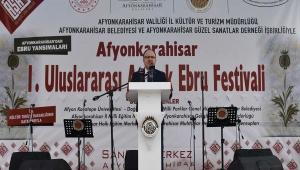Vali Tutulmaz 1.Uluslararası Atabek Ebru Festivalinin Açılışına Katıldı