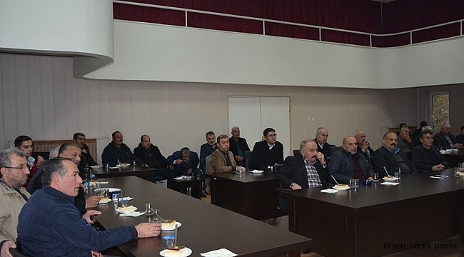Dinar'da Cumhur İttifakı Toplantısı Yapıldı
