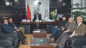 PATE-SAN Fabrikası İşletme Sahipleri, Başkan Sarı'yı Ziyaret Etti