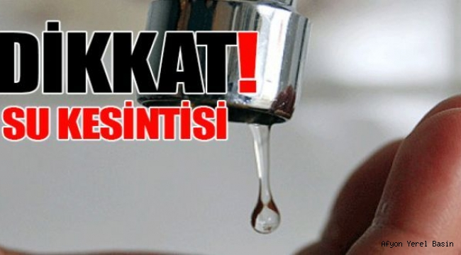 SU KESİNTİSİ