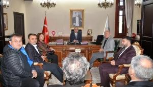 Vali Mustafa Tutulmaz İl İnsan Hakları Kurulu Üyelerini Kabul Etti