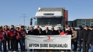 AFYON'DAN İDLİB'E 1 TIR UN