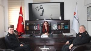 Afyonkarahisar İl Jandarma Komutan Yardımcılarından Burcu'ya Ziyaret..