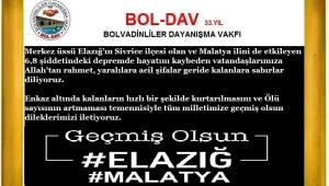 BAŞIN SAĞOLSUN ELAZIĞ,MALATYA VE TÜRKİYEM.!