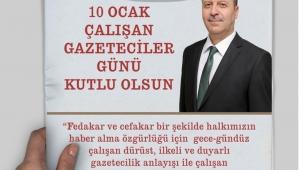Başkan Bozkurt'tan Çalışan Gazeteciler Günü Mesajı