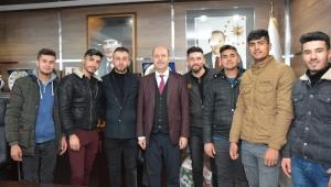 Başören Köyü Askerleri Başkan Bozkurt'u Ziyaret Etti.