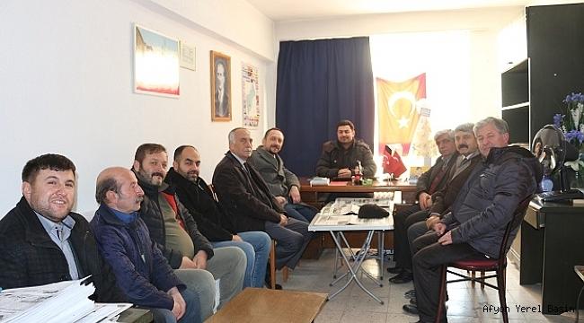 CHP Dinar İlçe Teşkilatı'ndan 10 Ocak Nedeniyle Gündem Gazetesine Ziyaret
