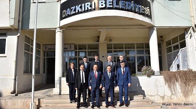 Dazkırı'da Afyon Kocatepe Üniversitesi Rektörü Prof.Dr. Mehmet Karakaş İnceleme Yaptı
