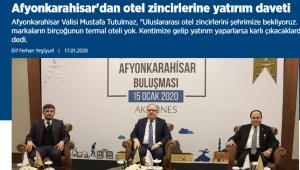 Ekonominin Kalemleri Satırlarına Afyonkarahisar'ı Taşıdı