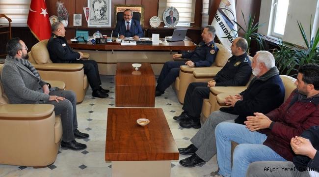 Emniyet ve Jandarmadan Başkan Şahin'e Ziyaret