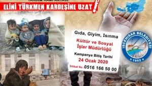 """İscehisar Belediyesinden """"Elini Türkmen Kardeşine Uzat"""" Yardım Kampanyası"""