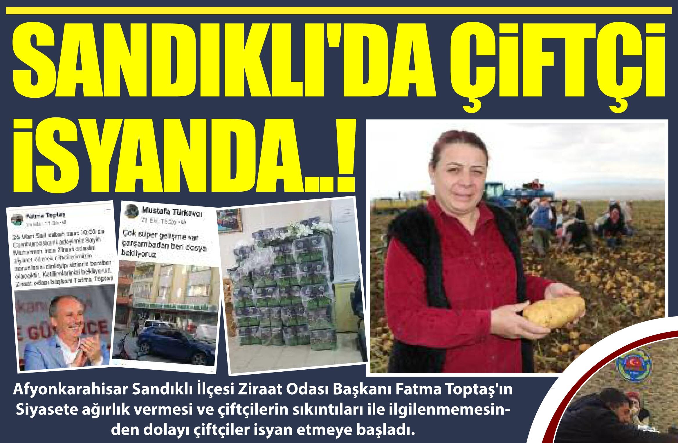 SANDIKLI'DA ÇİFTÇİ İSYANDA..!!!