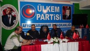 Ülkem Partisi haftalık basın toplantısını gerçekleştirdi