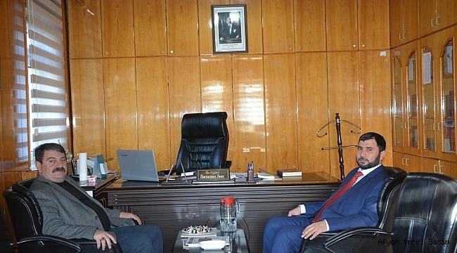 Dinar'a Yeni Atanan Müftüye Başkan Sarı'dan Ziyaret
